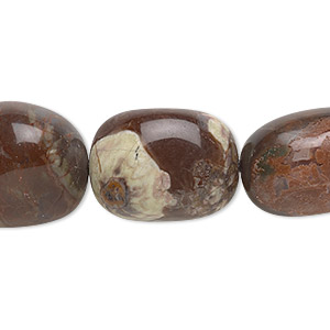 bead, sierra agate (natural), medium hand-cut tumbled nugget, mohs hardness 6-1/2 to 7. sold per 16-inch strand.