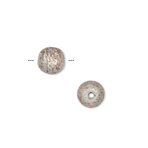 bead, silver-plated copper, 8mm two-tone brushed round. sold per pkg of 20.