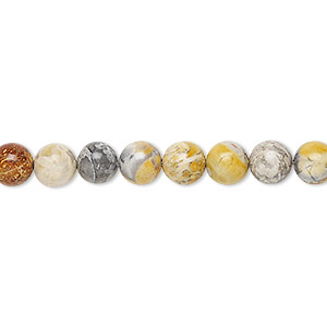 bead, sky eye jasper (natural), 6mm round, b grade, mohs hardness 6-1/2 to 7. sold per 16-inch strand.