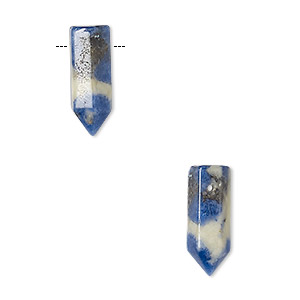 bead, sodalite (natural), 17x6mm hand-cut point, b grade, mohs hardness 5 to 6. sold per pkg of 2.