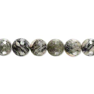 bead, spiderweb jasper (natural), 7-8mm faceted round, b- grade, mohs hardness 6-1/2 to 7. sold per 7-inch strand.