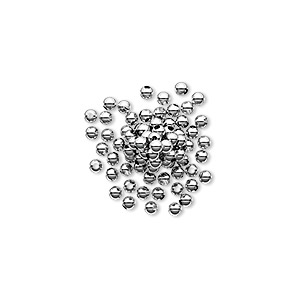 bead, sterling silver, 2mm seamless round. sold per pkg of 1,000.