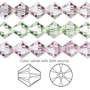 bead, swarovski crystals, cantaloupe, 8mm faceted bicone (5301). sold per pkg of 288 (2 gross).