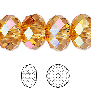 bead, swarovski crystals, crystal astral pink, 18x12mm faceted rondelle with 3.5 hole (5041). sold per pkg of 24.