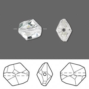 bead, swarovski crystals, crystal passions, crystal clear, 12x11mm faceted cosmic (5523). sold per pkg of 48.