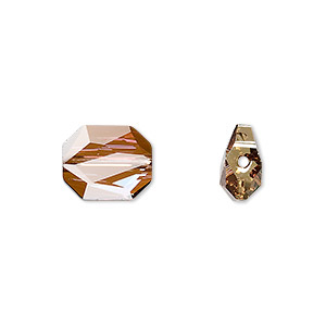bead, swarovski crystals, crystal passions, crystal copper, 12x10mm faceted graphic (5520). sold per pkg of 2.