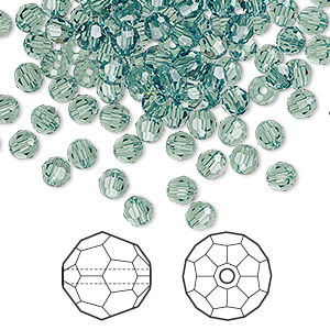 bead, swarovski crystals, crystal passions, erinite, 4mm faceted round (5000). sold per pkg of 144 (1 gross).