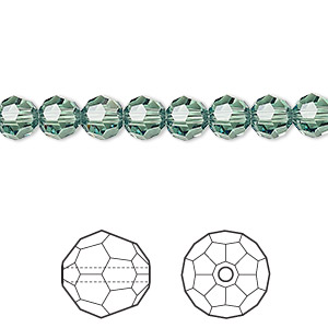 bead, swarovski crystals, crystal passions, erinite, 6mm faceted round (5000). sold per pkg of 12.