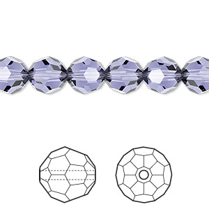 bead, swarovski crystals, crystal passions, provence lavender, 8mm faceted round (5000). sold per pkg of 12.