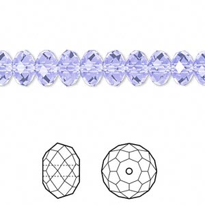 bead, swarovski crystals, crystal passions, provence lavender, 8x6mm faceted rondelle (5040). sold per pkg of 144 (1 gross).