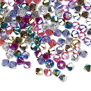 bead, swarovski crystals, crystal passions, rock star, 4mm xilion bicone (5328). sold per pkg of 48.