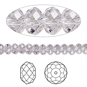 bead, swarovski crystals, crystal passions, smoky mauve, 6x4mm faceted rondelle (5040). sold per pkg of 12.