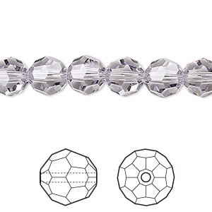 bead, swarovski crystals, crystal passions, smoky mauve, 8mm faceted round (5000). sold per pkg of 144 (1 gross).