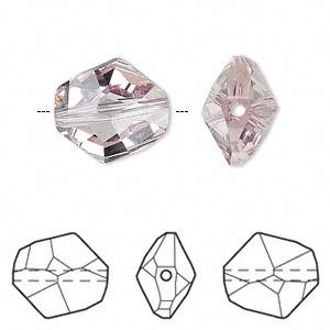 bead, swarovski crystals, light amethyst, 16x14mm faceted cosmic (5523). sold per pkg of 72.