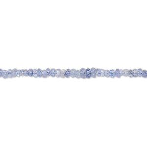 bead, tanzanite (heated), 2x1mm-3x2mm hand-cut faceted rondelle, c grade, mohs hardness 6 to 7. sold per 16-inch strand.