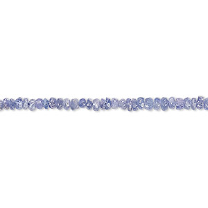 bead, tanzanite (heated), 2x1mm-4x2mm hand-cut faceted rondelle, c grade, mohs hardness 6 to 7. sold per 8-inch strand.