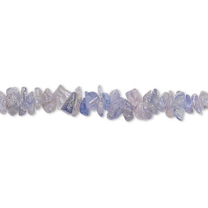 bead, tanzanite (heated), shaded, small chip, mohs hardness 6 to 7. sold per 36-inch strand.