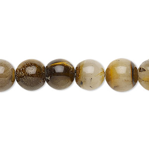 bead, tigereye (natural), 10-11mm round, d grade, mohs hardness 7. sold per 15-inch strand.