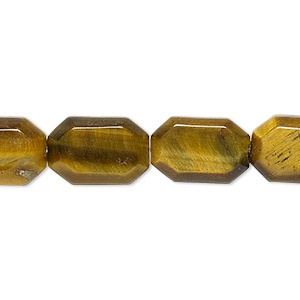 bead, tigereye (natural), 15x10mm faceted octagon, b+ grade, mohs hardness 7. sold per 16-inch strand.