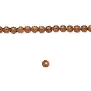 bead, tigerskin jasper (natural), 4mm round, b grade, mohs hardness 4 to 5. sold per 16-inch strand.