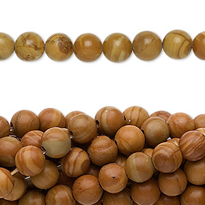 bead, tigerskin jasper (natural), 6mm round, c grade, mohs hardness 4 to 5. sold per pkg of (10) 16-inch strands.