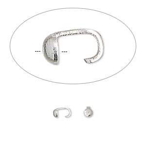 bead tip, silver-plated brass, 5x3mm with 0.029-inch hole. sold per pkg of 100.