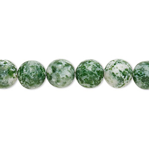 bead, tree agate (natural), 8mm round, c grade, mohs hardness 6-1/2 to 7. sold per pkg of (10) 16-inch strands.
