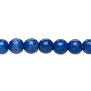 bead, turquoise (dyed / imitation), royal purple, 7-8mm round. sold per 15-inch strand.