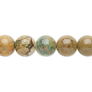 bead, verdite (natural), 10mm round, b grade, mohs hardness 3-1/2 to 4. sold per 16-inch strand.