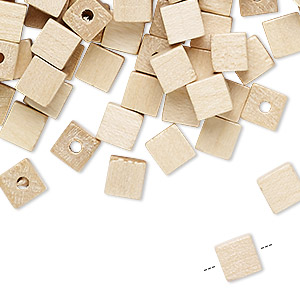 bead, vintage german wood (coated), 6x6mm cube. sold per pkg of 100.