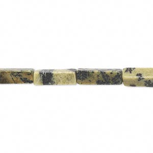 bead, yellow turquoise (natural), 13x4mm square tube, c grade. sold per 16-inch strand.