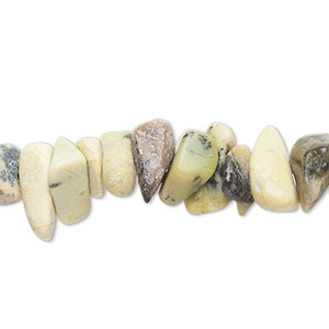 bead, yellow turquoise (natural), extra-large chip, mohs hardness 2-1/2 to 6. sold per 15-inch strand. minimum 5 per order.
