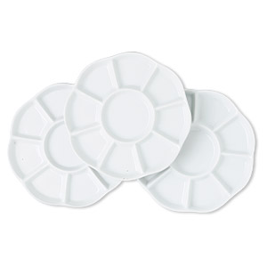 beading tray, porcelain, sold per set of 3.