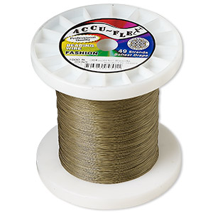 beading wire, accu-flex, nylon and stainless steel, bronze, 49 strand, 0.014-inch diameter. sold per 1,000-foot spool.