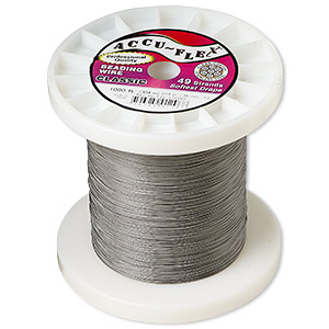 beading wire, accu-flex, nylon and stainless steel, clear, 49 strand, 0.014-inch diameter. sold per 1,000-foot spool.
