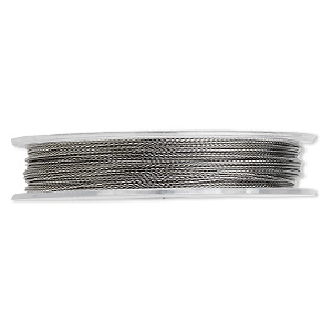 beading wire, tigertail™, nylon-coated stainless steel, clear, 3 strand, 0.015-inch diameter. sold per 30-foot spool.