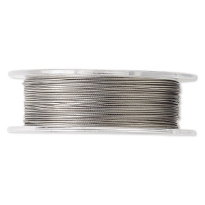 beading wire, tigertail™, nylon-coated stainless steel, clear, 7 strand, 0.018-inch diameter. sold per 100-foot spool.