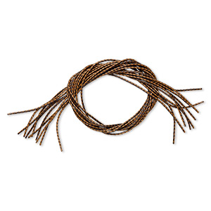 bola cord, leatherette, brown and dark brown, 3.5-4mm wide. sold per pkg of (10) 36-inch lengths.