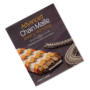 book, advanced chain maille jewelry workshop: weaving with rings  scale maille by karen karon. sold individually.