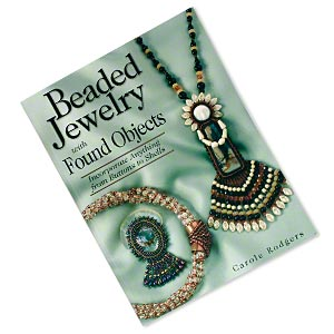 book, beaded jewelry with found objects by carole rodgers. sold individually.