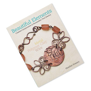 book, beautiful elements: creative components to personalize your jewelry: metal polymer clay wire by heather powers. sold individually.