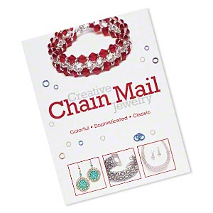 book, creative chain mail jewelry by beadbutton. sold individually.