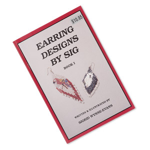 book, earring designs by sig: book 1 by sigrid wynne-evans. sold individually.