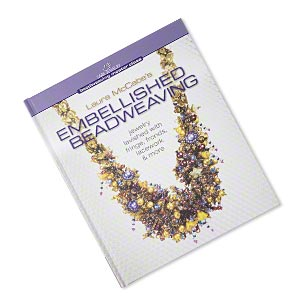 book, embellished beadweaving: jewelry lavished with fringe, fronds, lacework and more by laura mccabe. sold individually.