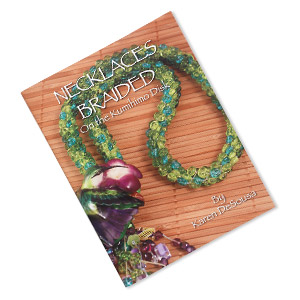 book, necklaces braided on the kumihimo disk by karen desousa. sold individually.