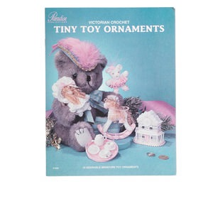 book, victorian crochet tiny toy ornaments by sandra peach. sold individually.