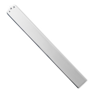 bookmark, silver-plated steel, 5-1/8 x 9/16 inch with (3) 1mm holes, 1mm thick. sold individually.
