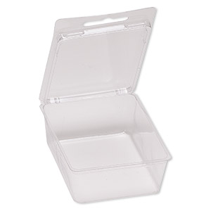 box, plastic, clear, 4-1/2 x 2-3/4 x 1-1/4 inch clamshell blister. sold per pkg of 100.