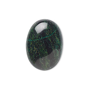 cabochon, african jade (natural), 25x18mm calibrated oval, b grade, mohs hardness 7. sold per pkg of 2.