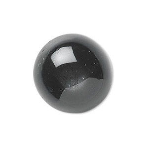 cabochon, black star diopside (natural), 8mm non-calibrated round, c grade, mohs hardness 5-1/2 to 6. sold individually.